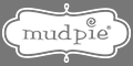 Mud Pie White Logo on Gray Background