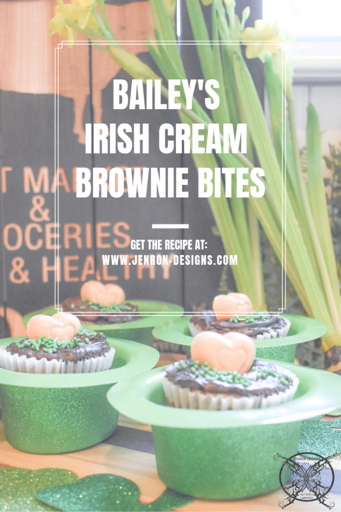 Bailey's Irish cream Brownie Bites