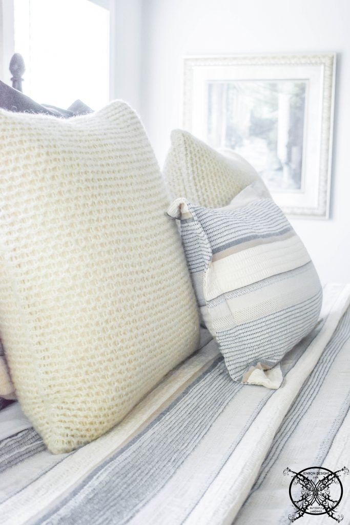 Vera Wang Heather Knit Throw Pillow Natural