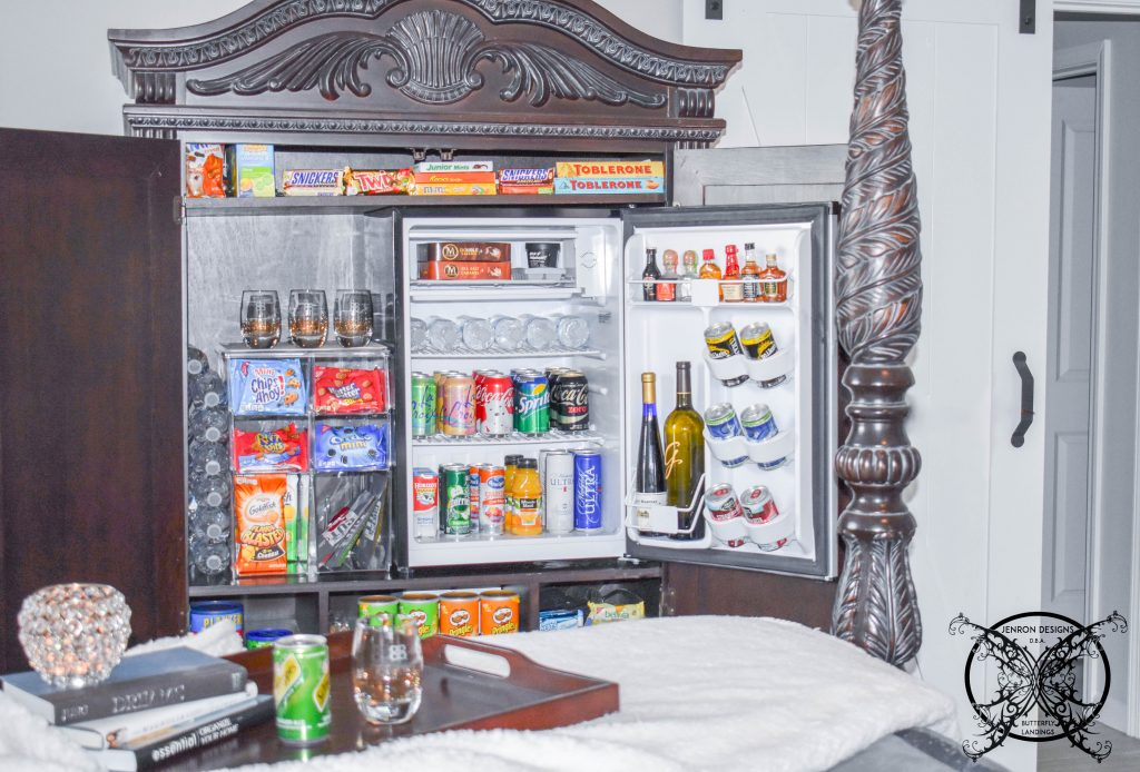 DIY mini bar armoire JENRON DESIGNS