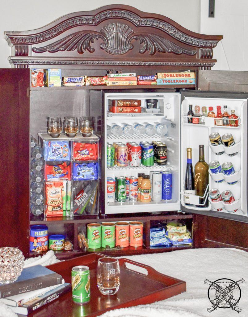 Full view of Mini Bar Armoire JENRON DESIGNS
