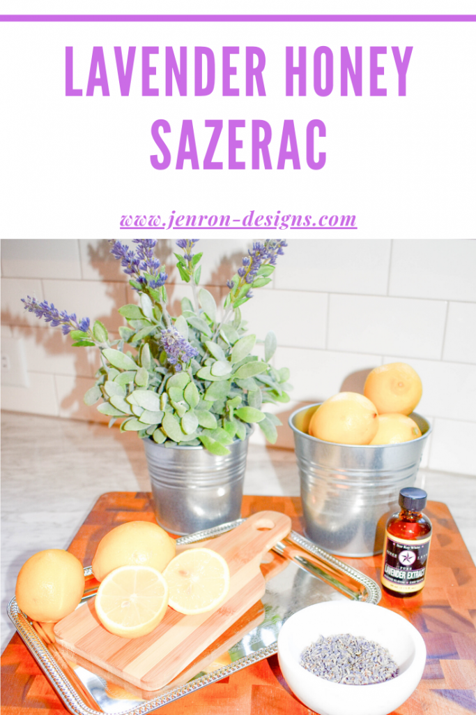 Lavender Honey Sazerac JENRON DESIGNS Pin
