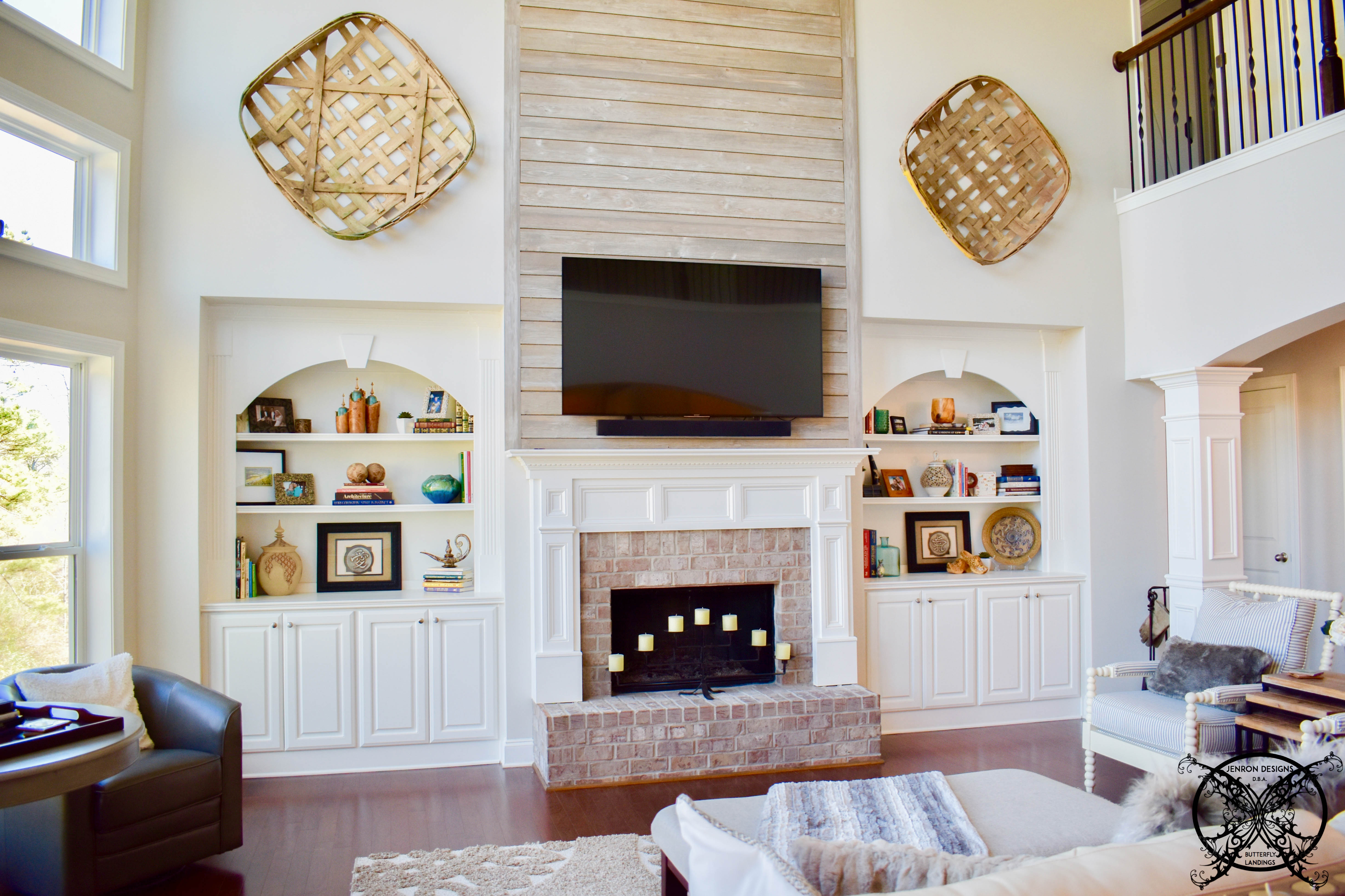 My Shiplap Fireplace Diy Jenron Designs