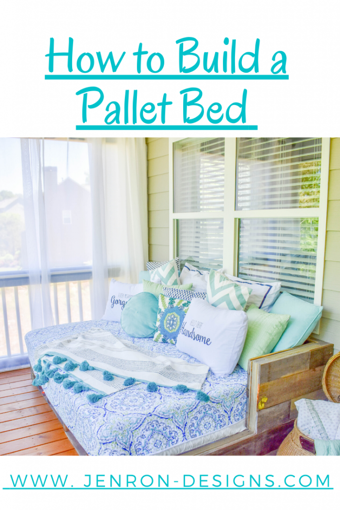 How To Build A Pallet Bed JENRON DESIGNS