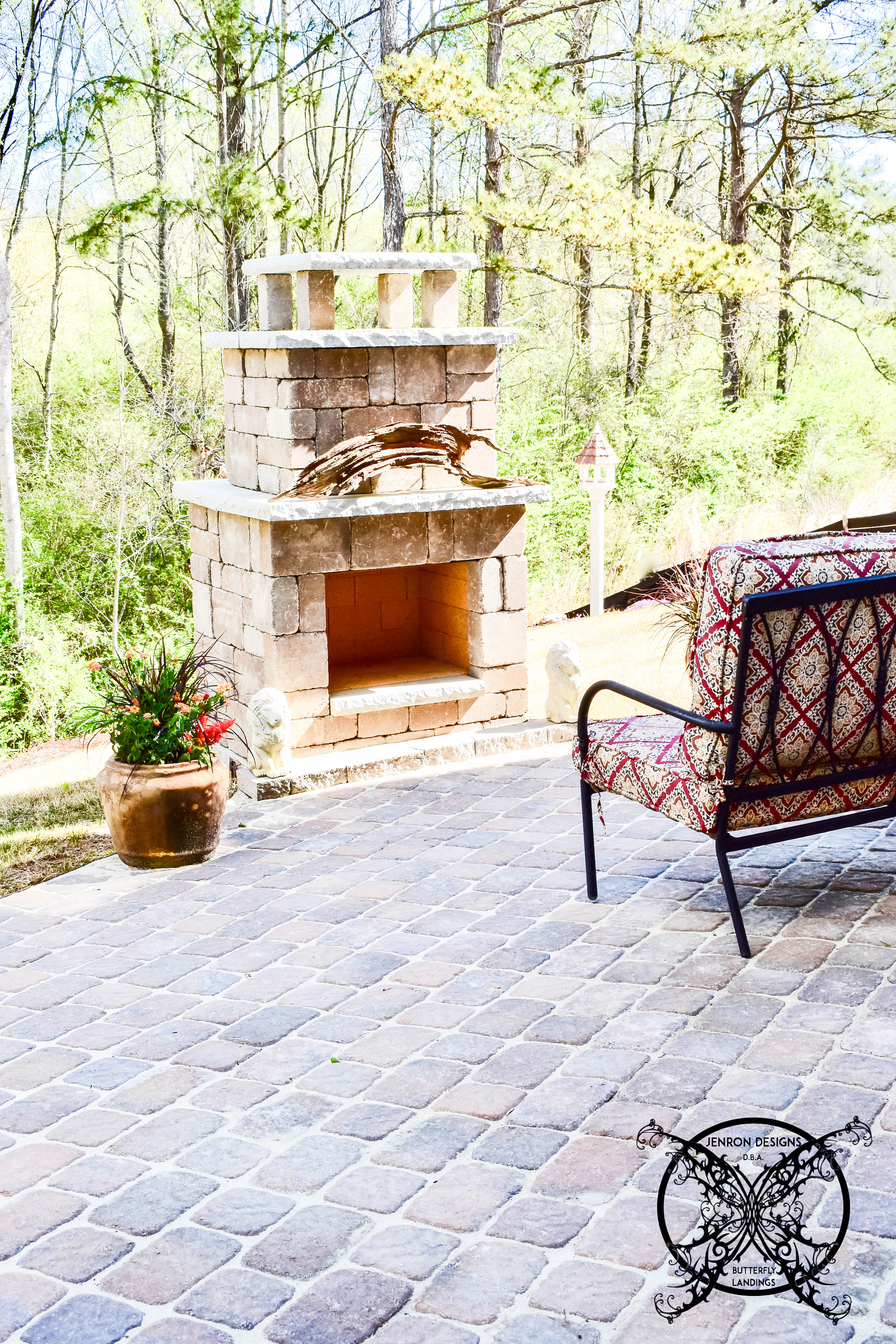 Patio Pavers Fireplace