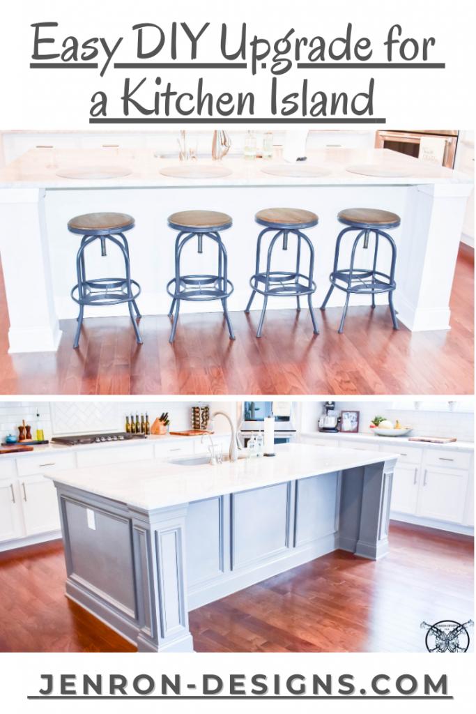 DIY Upgrade for Kitchen Island JENRON DESIGNS