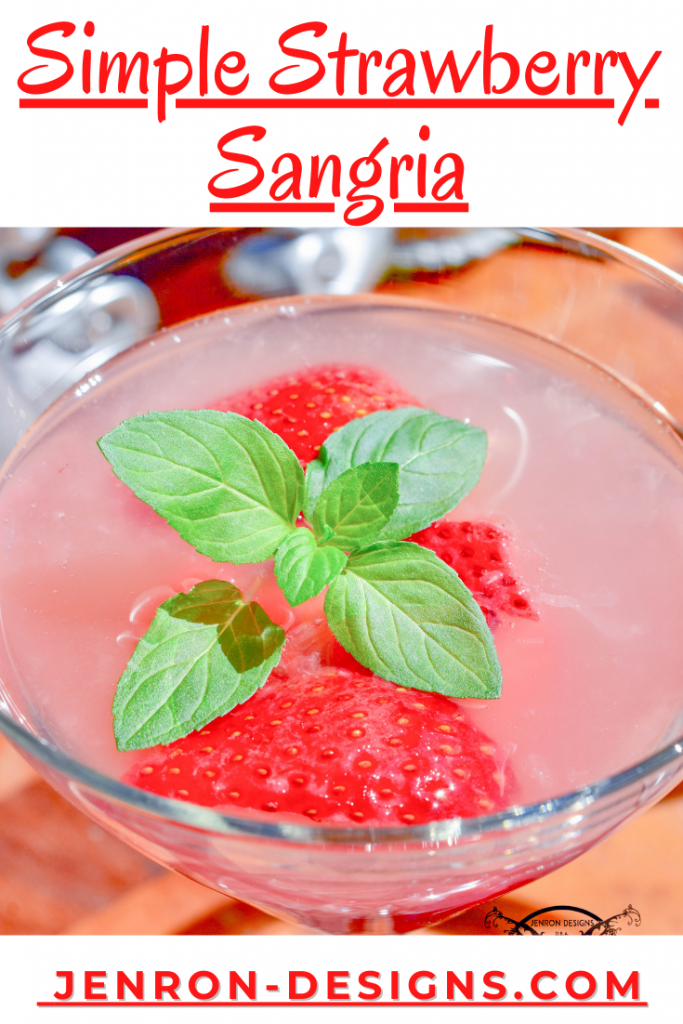 Simple Strawberry Sangria JENRON DESIGNS