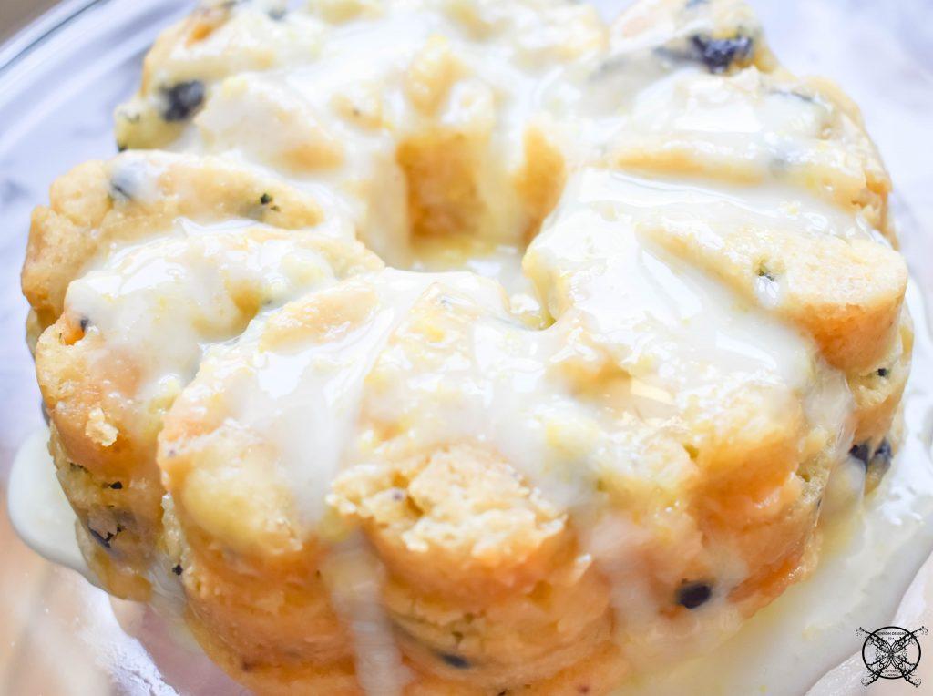 Instant Pot Lemon Blueberry Bundt Cake JENRON DESIGNS