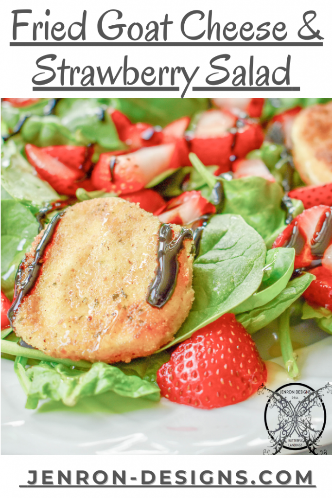 Fried Goat Cheese & Strawberry Salad JENRON DESIGNS