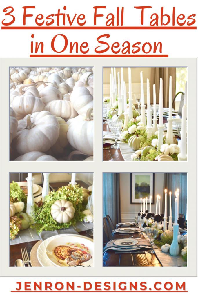 3 fall festive tables JENRON DESIGNS