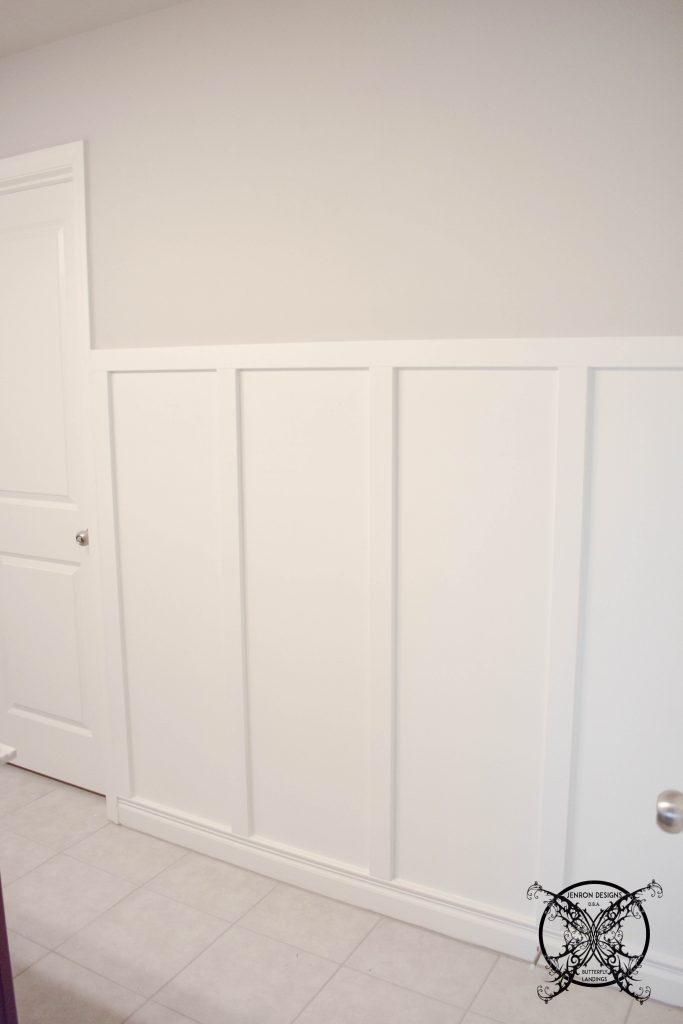 Board & Batten DIY Filling space with paint JENRON DESIGNS