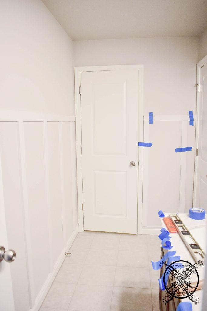 Board & Batten DIY tips Blue Tape JENRON DESIGNS