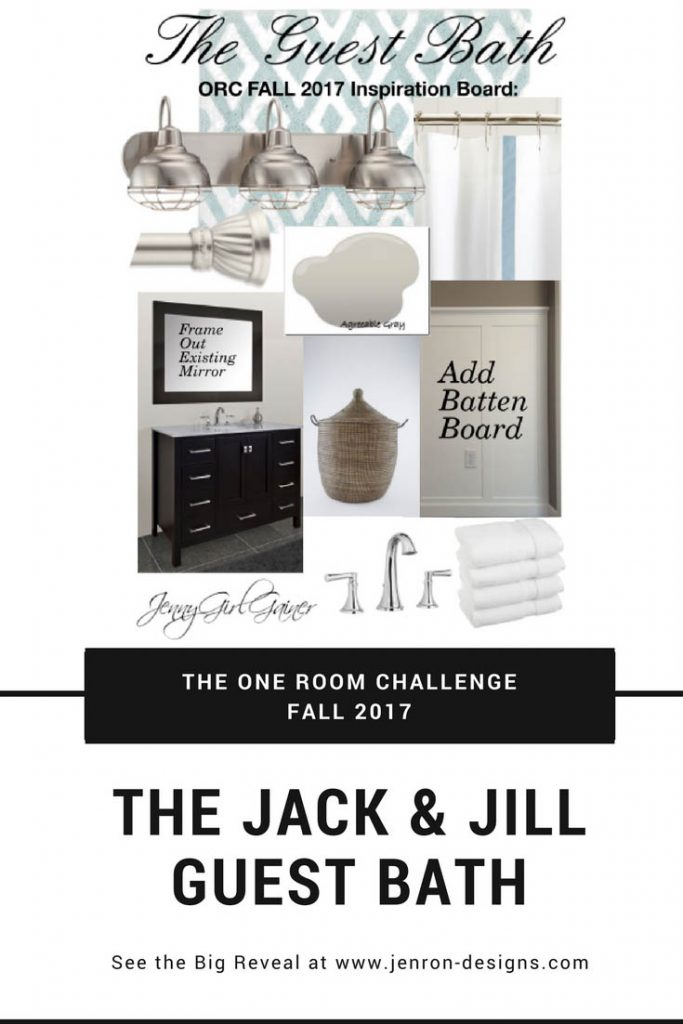 Guest Bathroom Inspiration Board Pin JENRON DESIGNS