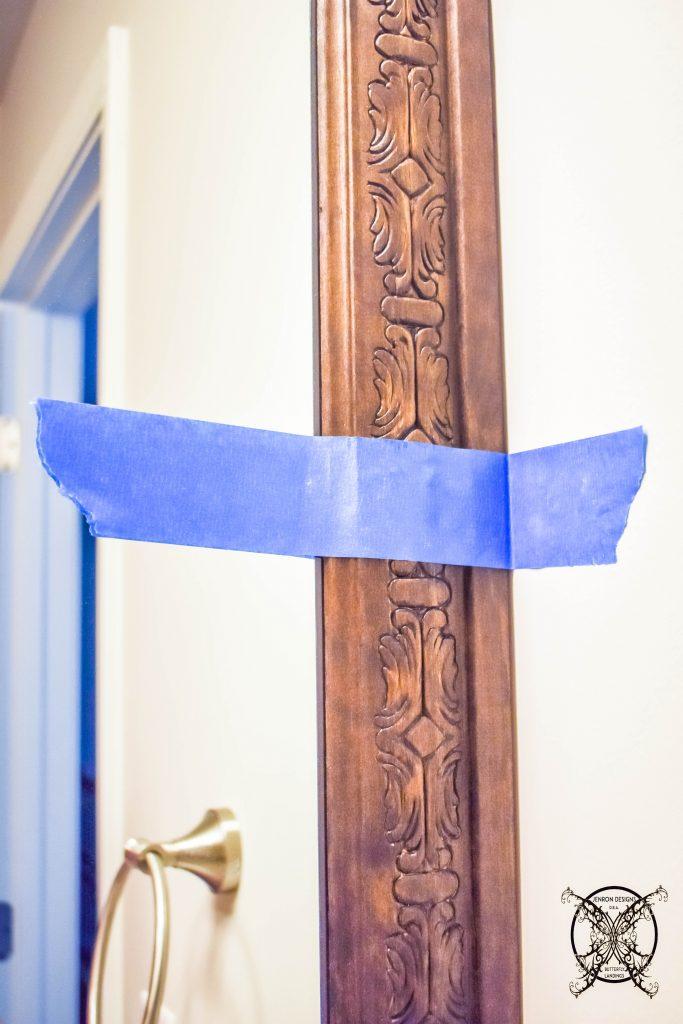 Mirror Frame Out Blue Tape JENRON DESIGNS