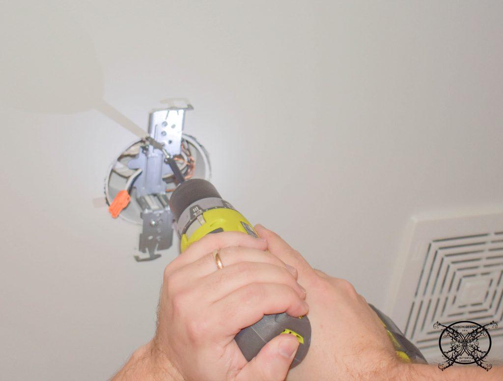 Adding New LED reccessed Lights JENRON DESIGNS