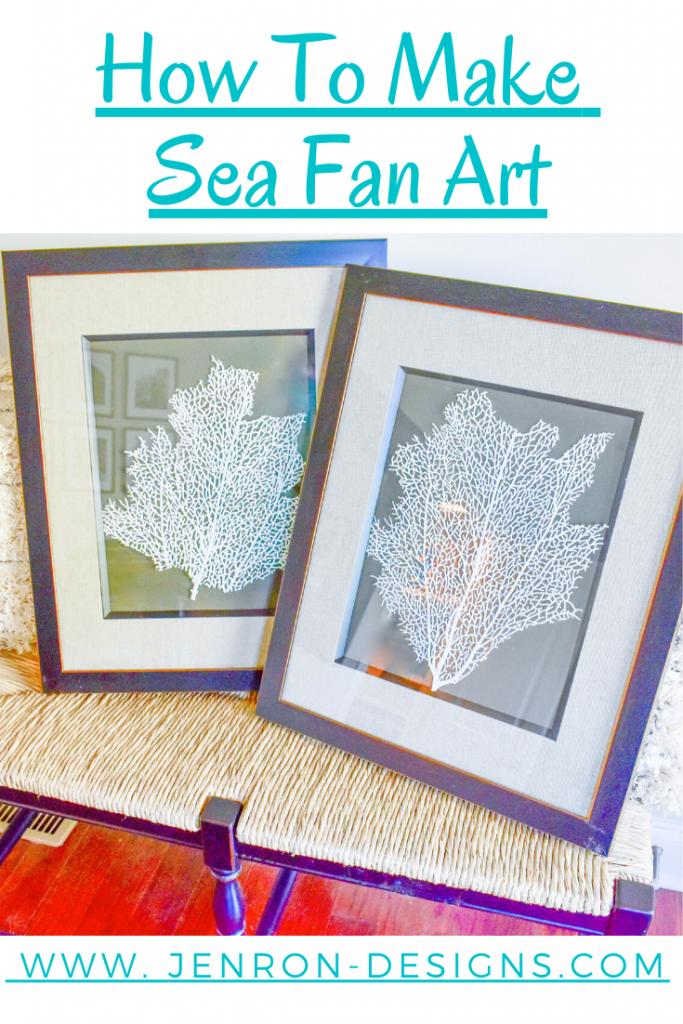how to make sea fan art JENRON DESIGNS