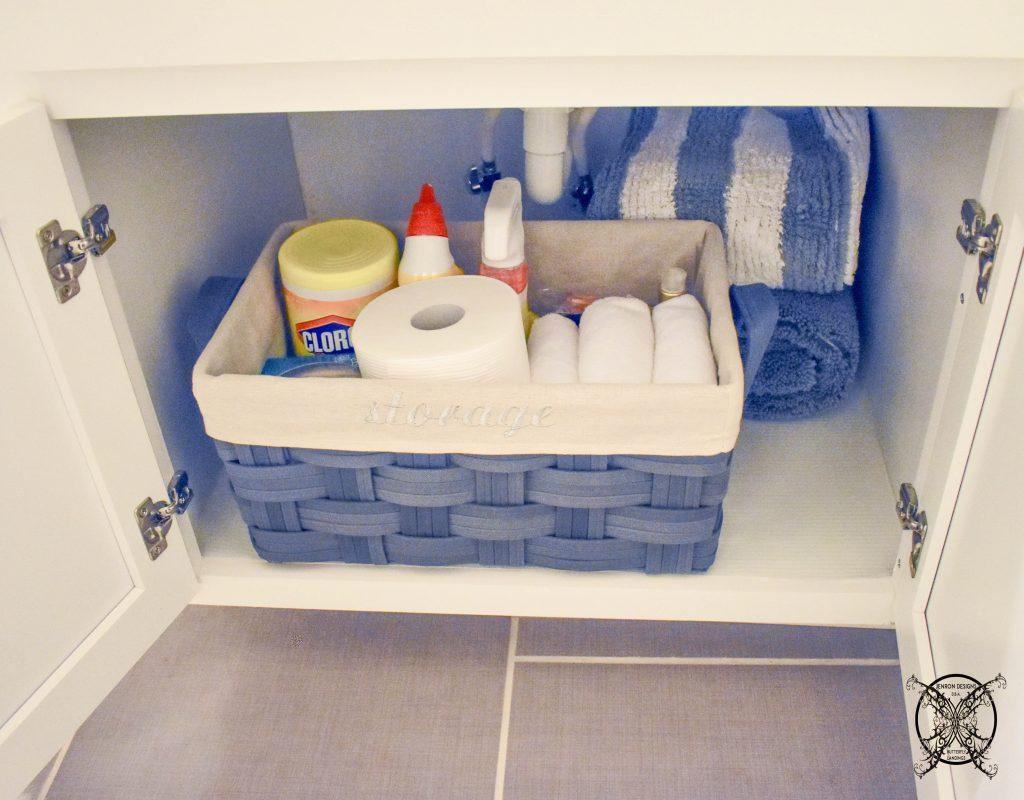 Bathroom Cabinet Organization After JENRON DESIGNS