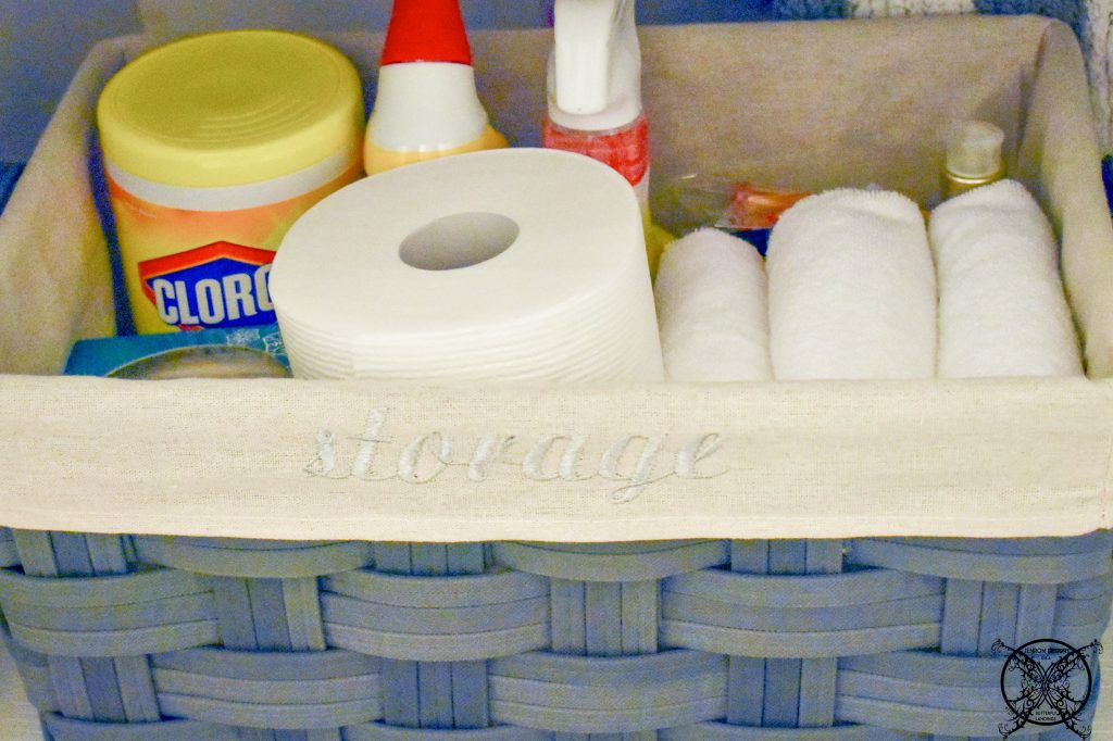 Bathroom Cabinet Organization Basket JENRON DESIGNS
