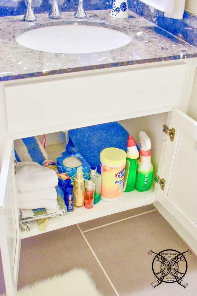 Bathroom cabinet Organization JENRON DESIGNS