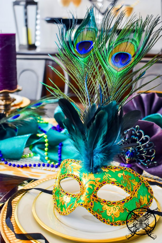 DIY Mardi Gras Faether Masks JENRON DESIGNS