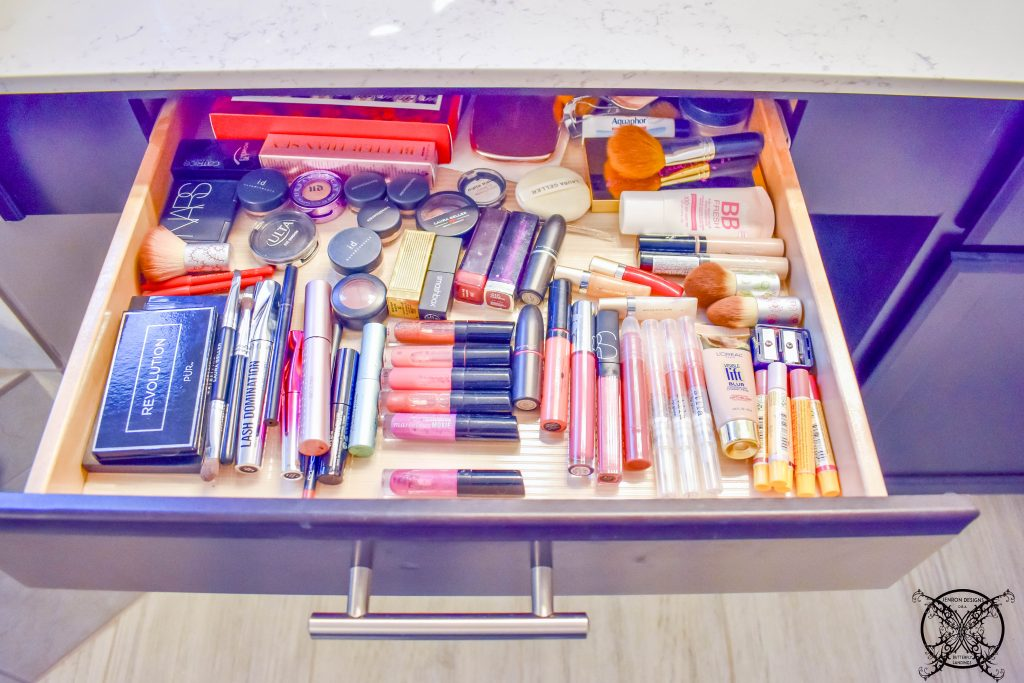 Makeup Drawer Organization Before JENRON DESIGNS