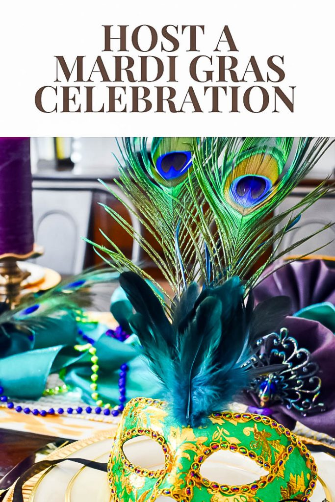 Mardi Gras Party Pin JENRON DESIGNS