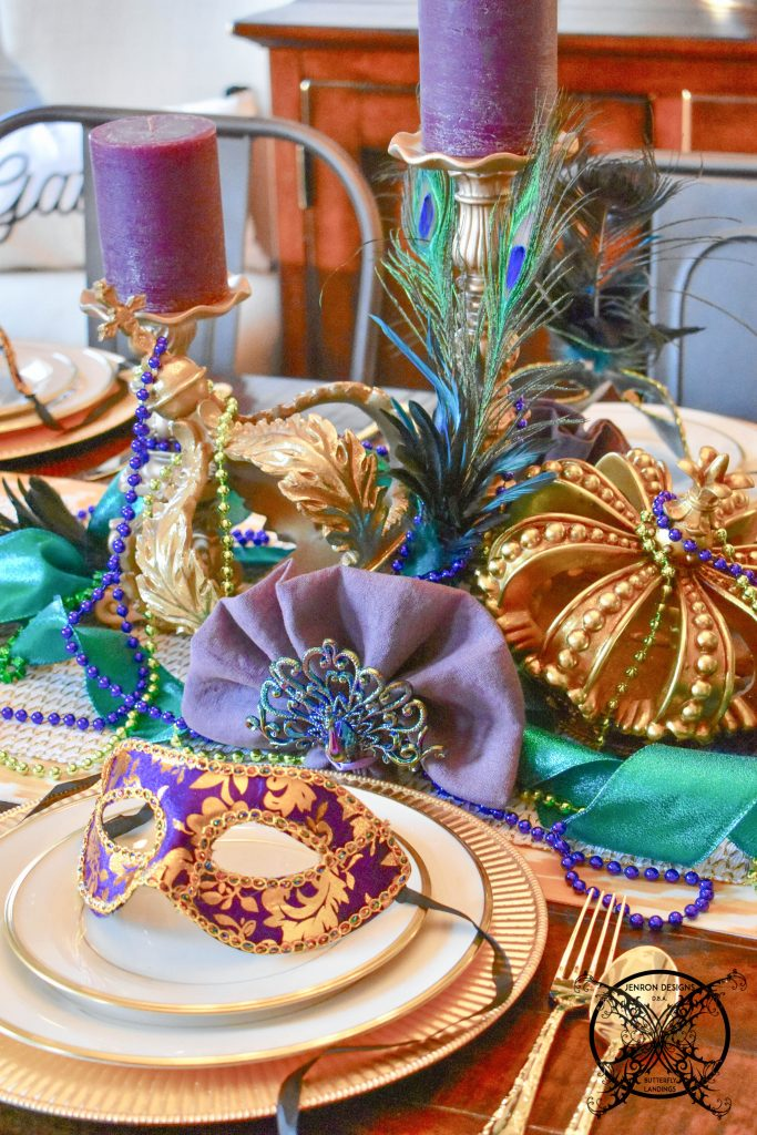 Mardi Gras Party Setting JENRON DESIGNS