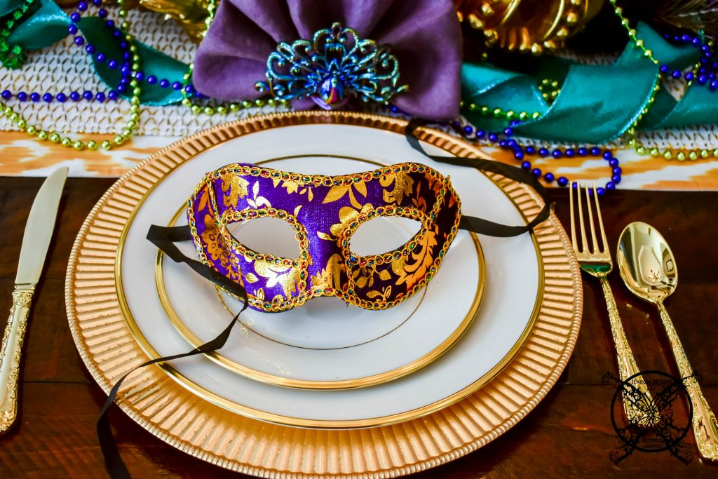 Mardi Gras Place setting JENRON DESIGNS