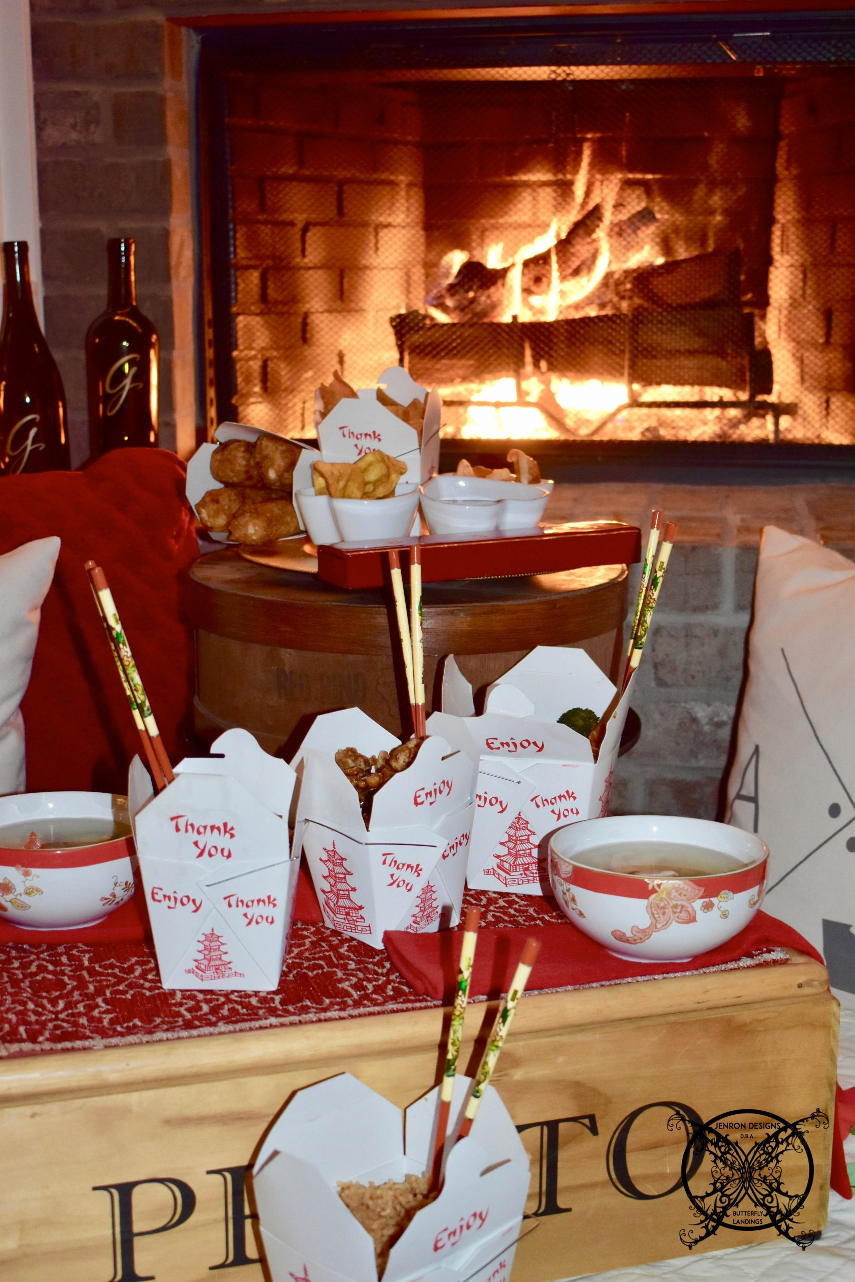 JENRON DESIGNS Valentine Take Out Chinese for lunar new year