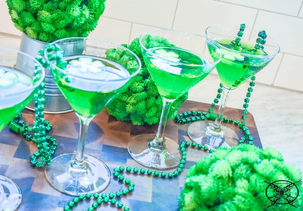 Green Leprechaun Cocktails JENRON DESIGNS