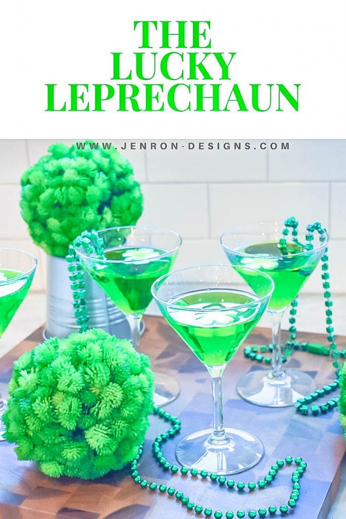 Pin A Lucky Leprechaun Cocktail JENRON DESIGNS