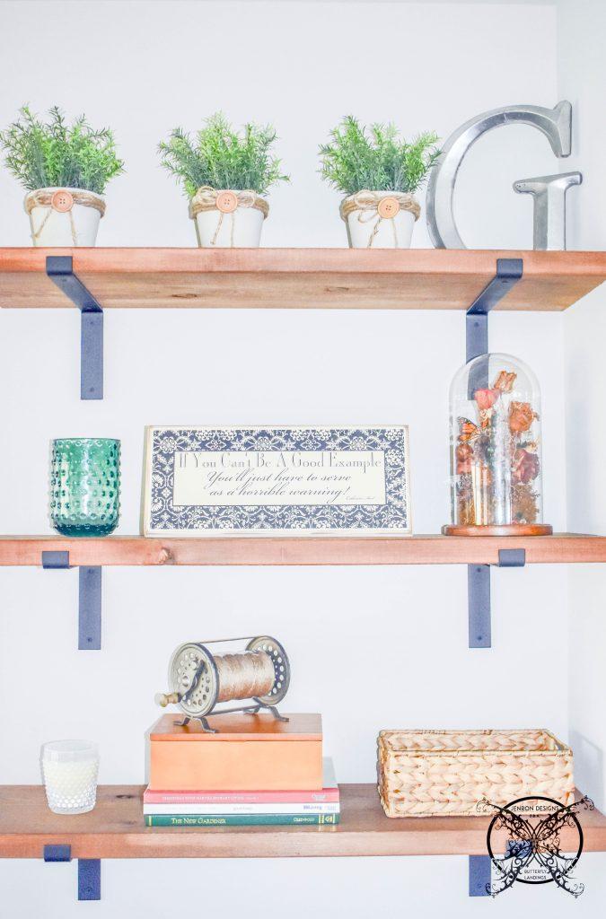 Office Styling Floating Shelves JENRON DESIGNS