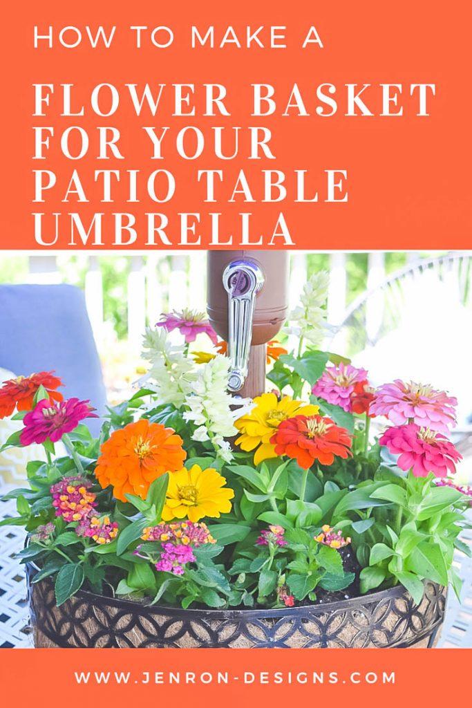 DIY Umbrella Flower Basket Pin JENRON DESIGNS
