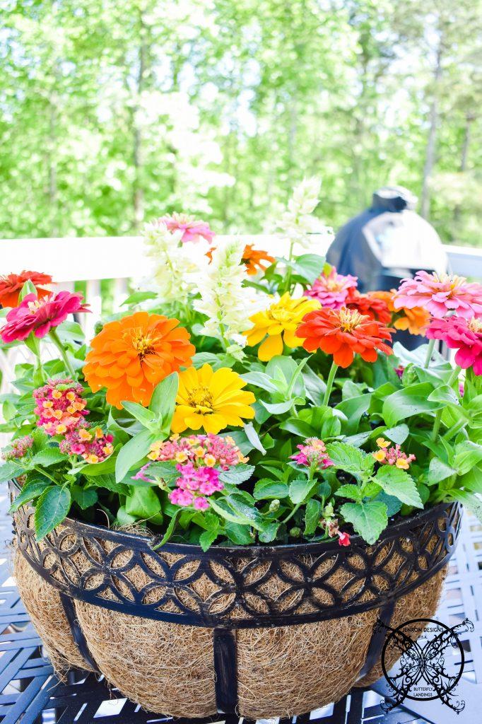 Flower Umbrella Basket JENRON DESIGNS