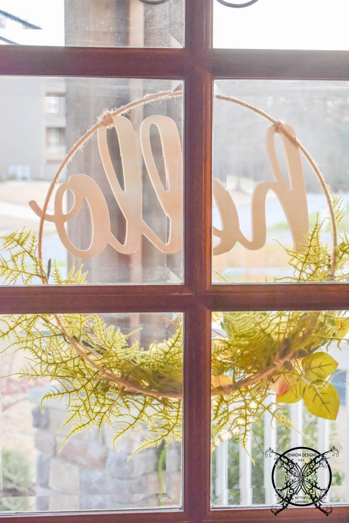 How to Make A Glass Door Hoop Wreath JENRON DESIGNS