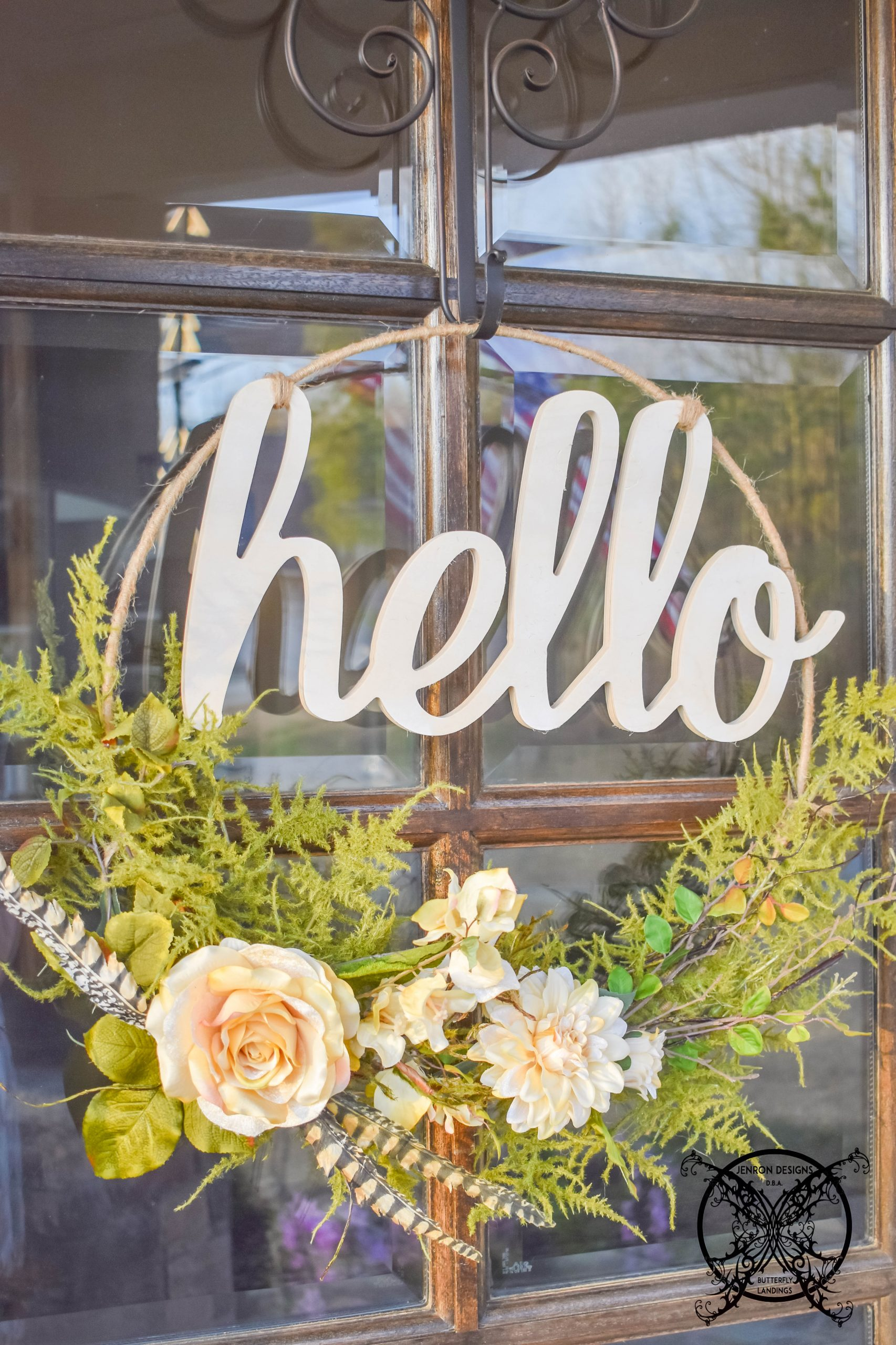 How to Make A Welcoming Hoop Wreath JENRON DESIGNS