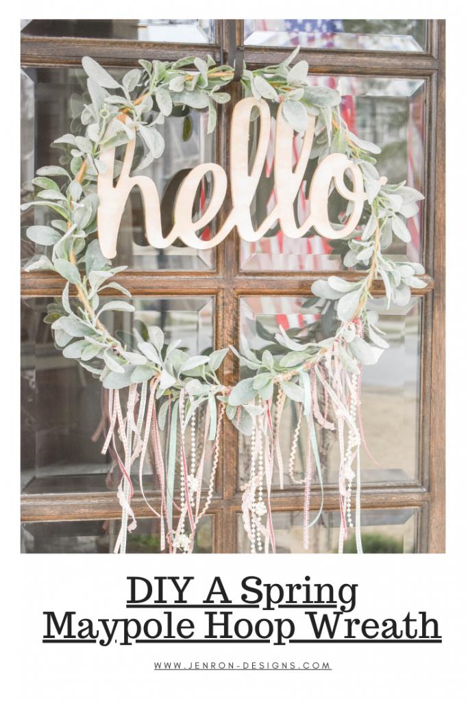 Maypole Hoop Wreath JENRON DESIGNS