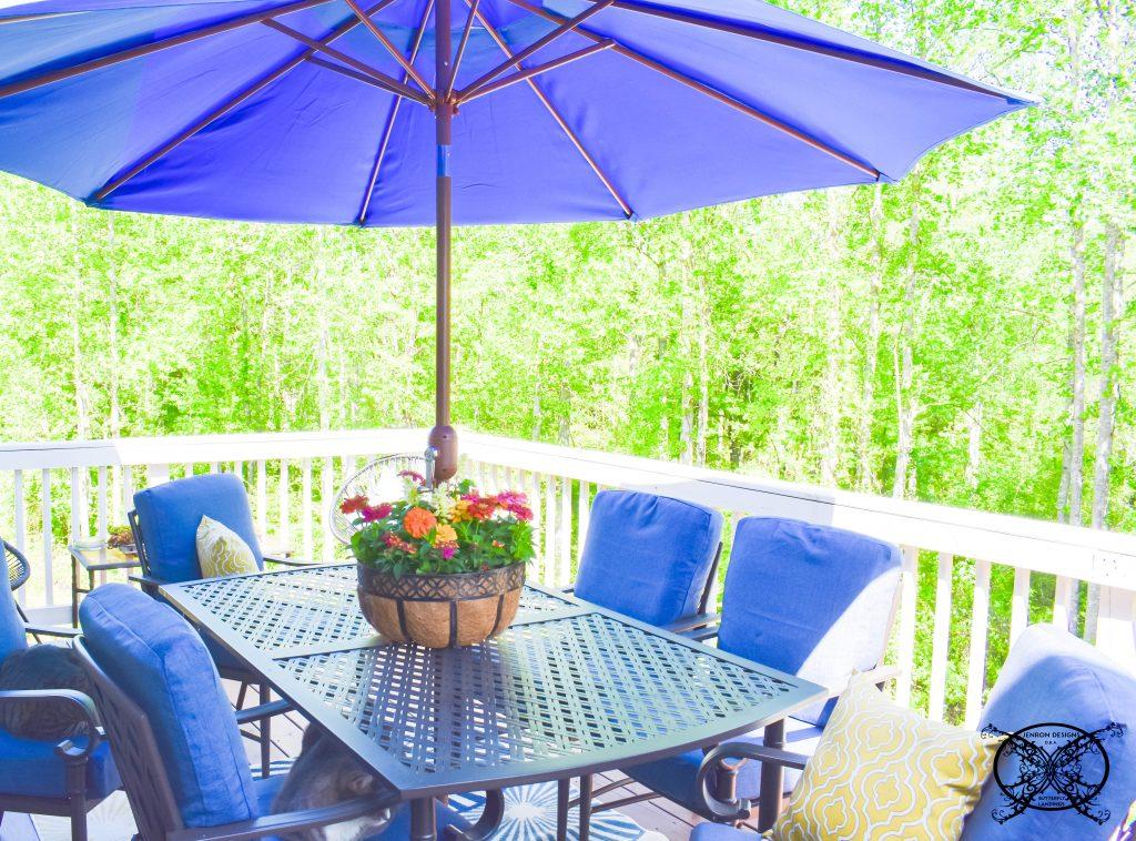 Umbrella Basket Flowers DIY JENRON DESIGNS
