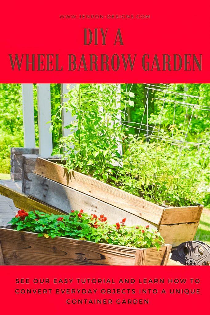 Wheelbarrow Garden diy Pin JENRON DESIGNS-2