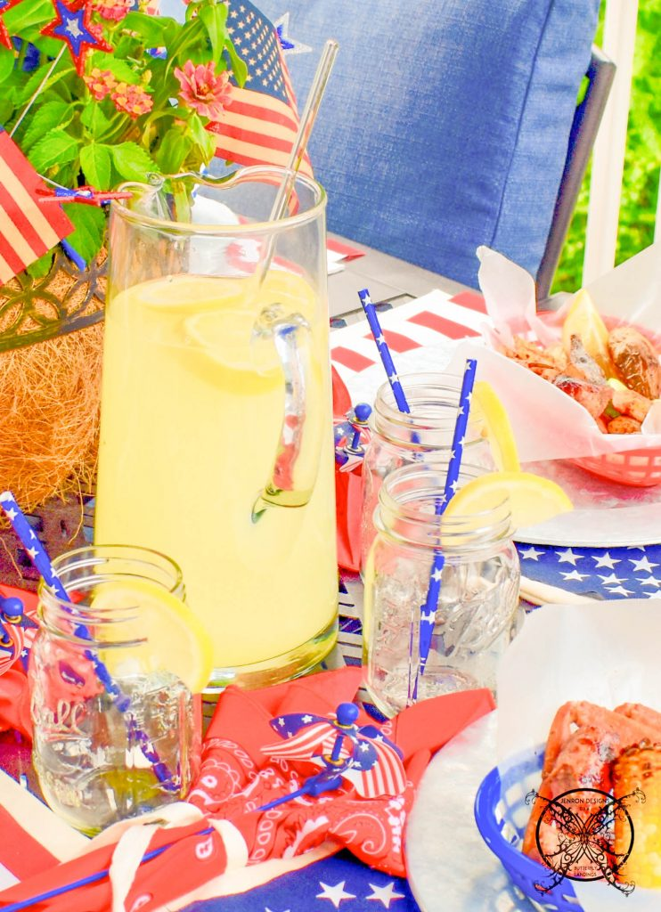 Homemade Lemonade 4th of July JENRON DESIGNS.j
