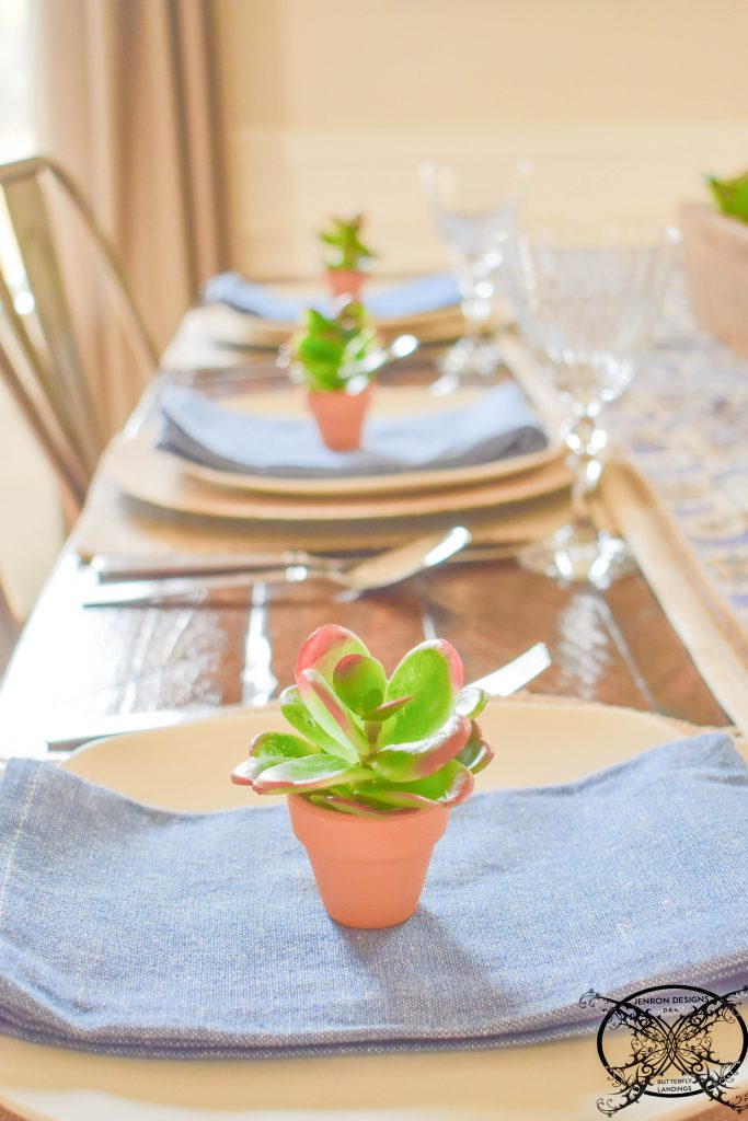 Succulents Table Decor JENRON DESIGNS.