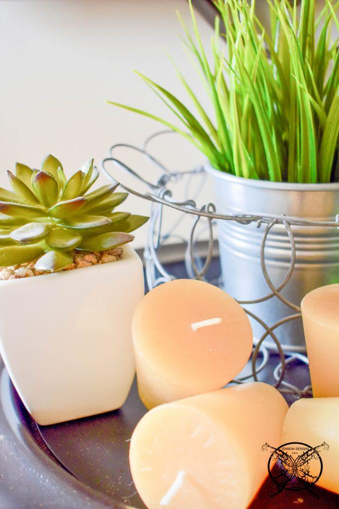 Succulents & candles JENRON DESIGNS.