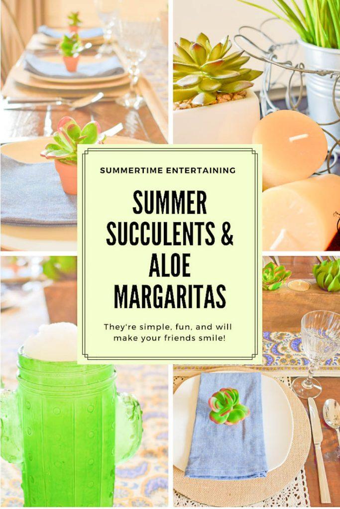 Summer SucculentsAloe Margarita PIn JENRON DESIGNS
