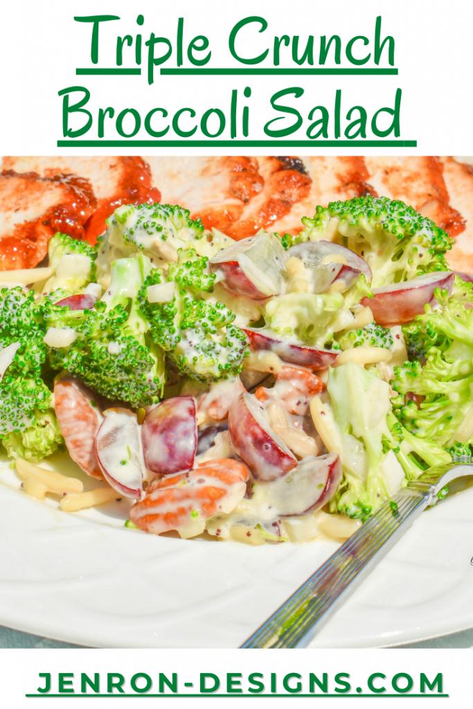 Triple Crunch Broccoli Salad JENRON DESIGNS