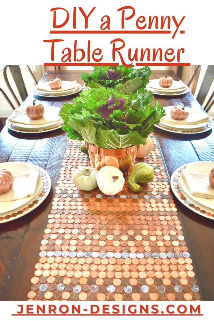 DIY Penny Table Runner JENRON DESIGNS