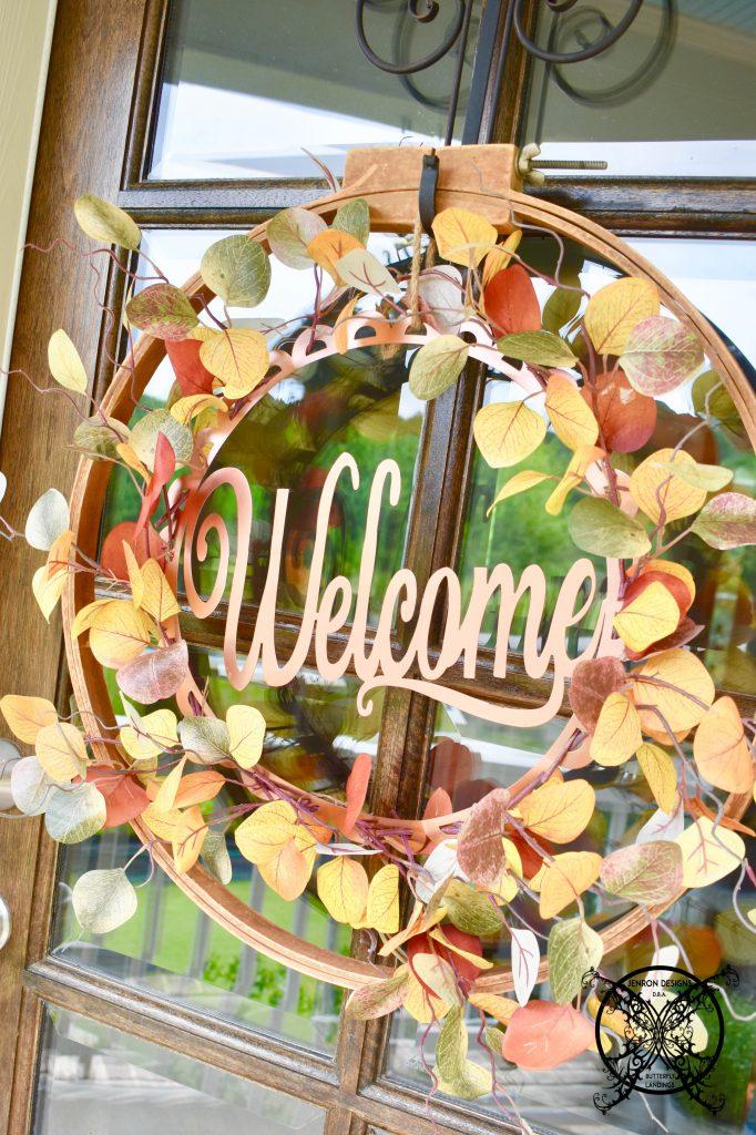 Fall Embroidery Hoop Wreath JENRON DESIGNS