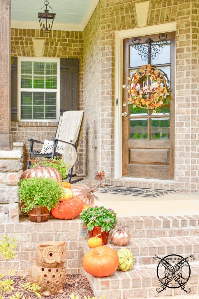 Fall Front Porch JENRON DESIGNS