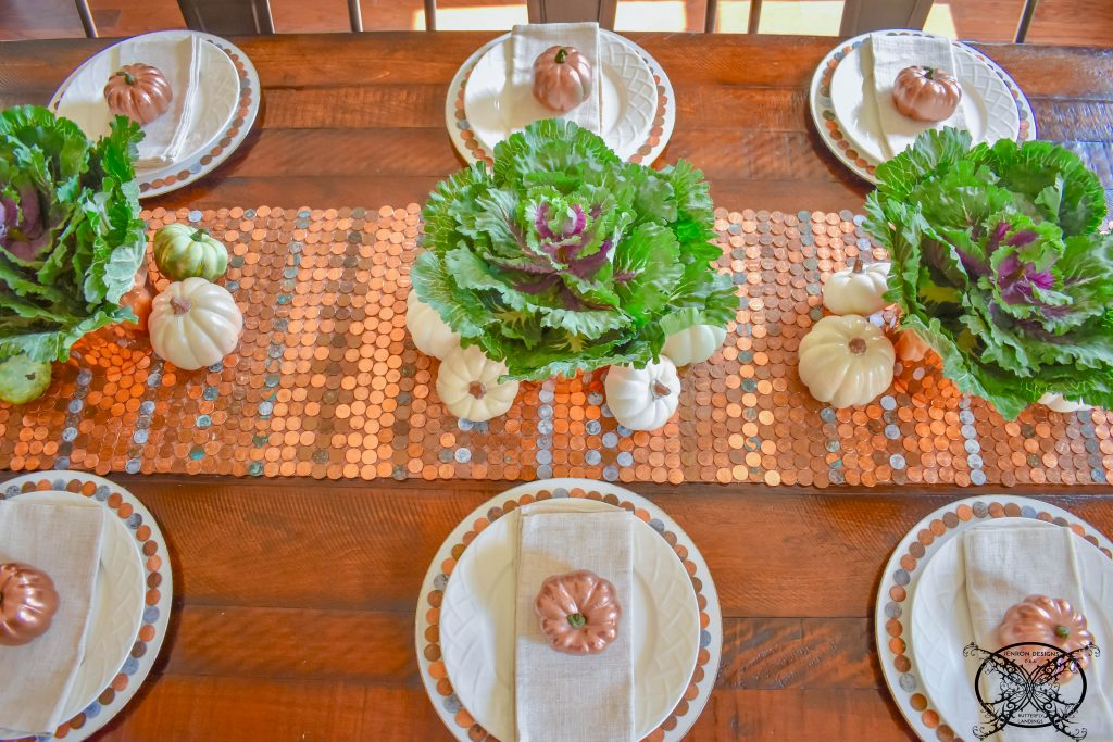 Lucky Penny Tablescape for Fall JENRON DESIGNS