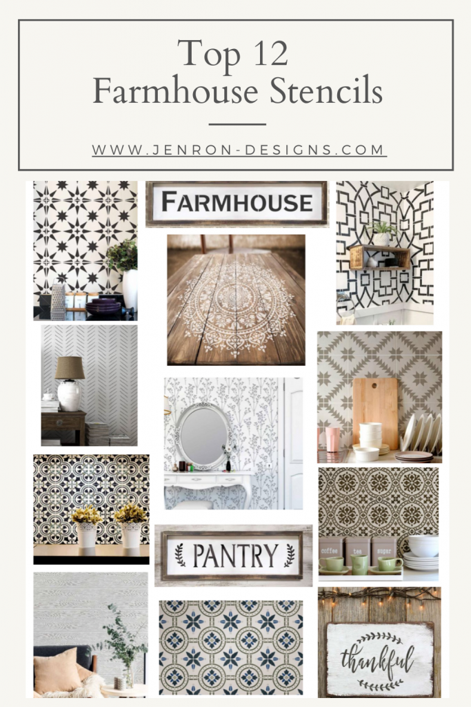 Top 12 Farmhouse Stencils by.jenron-designs.com