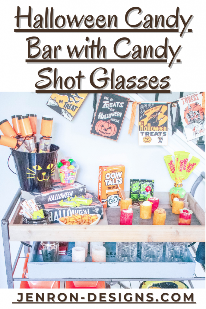 Halloween Candy Bar with Candy Shot Glasses Pin JENRON DESIGNS